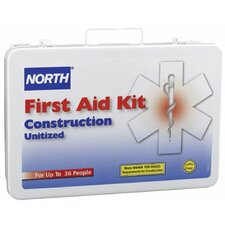 Construction First Aid Kits - 36 unit unitized first aid kit steel case