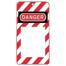 "Lockout Tagouts - 3""x5-3/4"" styrene lock-out tag do not oper"