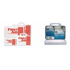 25 Person Industrial First Aid Kits - 25 person steel first-aid kit w/eyewash