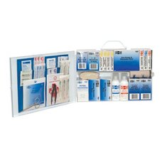 100 Person Industrial First Aid Kits - 2 shelf industrial firstaid station