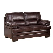 San Paolo Leather Loveseat
