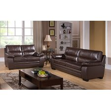 Easton Leather Sofa and Loveseat Set