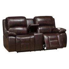 Jersey Leather Reclining Loveseat