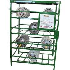 "70"" H x 48"" W x 36"" D Propane Cylinder Storage Rack"