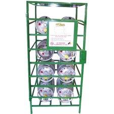 """70"""" H x 33"""" W x 36"""" D Cylinder Storage Cabinet"""