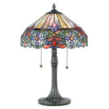 """Tiffany Connie 22"""" H Table Lamp with Bowl Shade"""