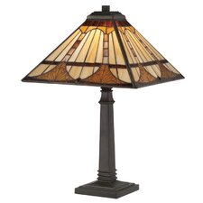 """Timber Tiffany 21"""" H Table Lamp with Empire Shade"""
