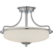 Griffin 3 Light Semi Flush Mount