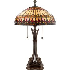 "West End Tiffany 26.5"" H Table Lamp with Bowl Shade"