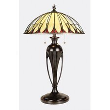 """Alhambre Tiffany 28"""" H Table Lamp with Bowl Shade"""
