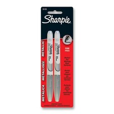 Metallic Sharpie, Permanent, Fine Point, Silver (2 Pack) (Set of 6)