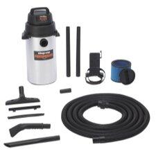 Stainless Steel 8 Gallon 2.0 Peak HP Wall Mount Garage Wet / Dry Vacuum