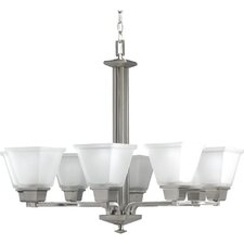North Park Eight Light Chandelier in Brushed Nickel