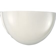 White Glass Quartersphere Fluorescent Wall Sconce