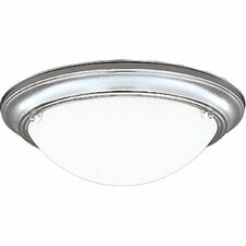 Eclipse  Flush Mount in Polished Brass