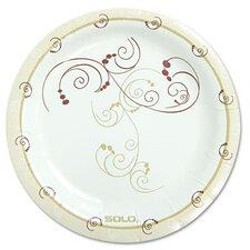 "Symphony 6"" Paper Dinnerware Plate in Tan (Pack of 125)"