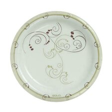 """8 1/2"""" Clay-Coated Round Paper Plates Symphony Design"""