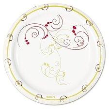Company Symphony Paper Dinnerware, Mediumweight Plate, 1000 Per Carton