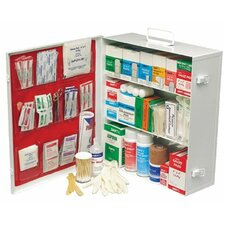 Swift First Aid - Medium Industrial 180 First Aid Cabinets 3 Shelf Standard - Pumpspray W/Liner: 714-34180Lfp - 3 shelf standard - pumpspray w/liner