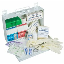 25 Person First Aid Kits - #25 standard plastic w/gasket