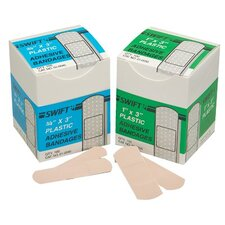 "Adhesive Bandages - 1""x3"" plastic strips 50/box (Set of 10)"