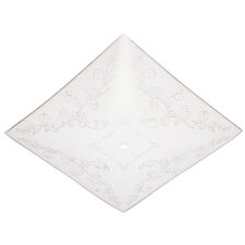 """14"""" Square Floral Glass Diffuser (Set of 12)"""