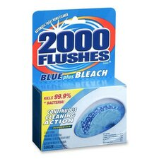 Cleaner, Toilet Bowl, w/ Bleach and Blue Detergents, 3-1/2 oz