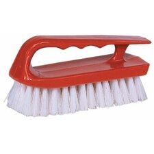 "Hand Scrub Brushes - 6"" Scrub Brush Finger Grip Handle White (Set of 12)"