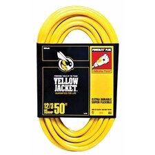 Woods Wire - Yellow Jacket Power Cords 100' 12/3 Sjtw/A Yellowjacket Extension C: 860-2885 - 100' 12/3 sjtw/a yellowjacket extension c