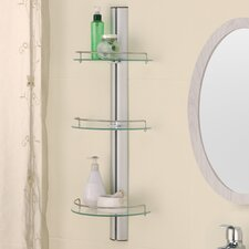 "11.38"" W x 30.75"" H Three Tier Bathroom Shelf"