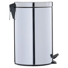 Stainless Step-Ons 3.13-Gal Round Trash Can