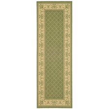 Courtyard Classic Border Sage Area Rug