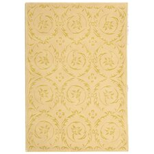 French Tapis Gold Floral Area Rug
