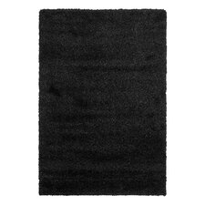 California Shag Black Area Rug