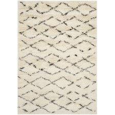 Casablanca White & Brown Area Rug