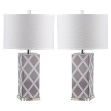 "Nantucket 27"" H Table Lamp with Drum Shade (Set of 2)"