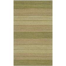 Marbella Green Striped Area Rug
