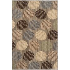 Infinity Circle Taupe / Beige Area Rug