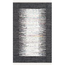 Montauk Ivory / Black Contemporary Rug