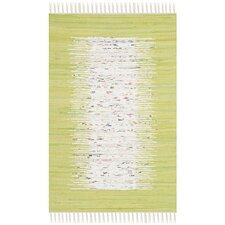 Montauk Ivory / Lime Contemporary Rug