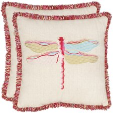 Rising Dragonfly Throw Pillow (Set of 2)