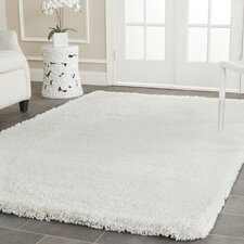 Shag White Area Rug