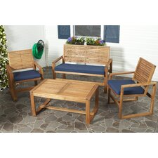 Ozark 4 Piece Lounge Seating Group with Cushions
