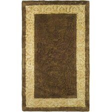 Silk Road Chocolate/Light Gold Area Rug
