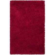 Shag Red Area Rug