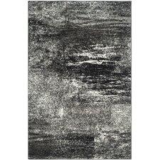 Adirondack White/Silver/Black Area Rug