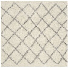 Dallas Shag Ivory & Grey Area Rug
