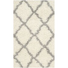 Dallas Shag Ivory & Gray Area Rug