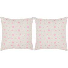 Candy Buttons Linen Throw Pillow (Set of 2)