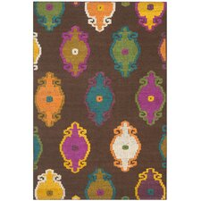 Suzani Brown Modern Rug